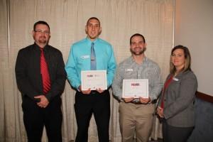 Photo (left to right): Drew Erks, Brandon Schaust, Trev Muth, and President Danielle Kleber